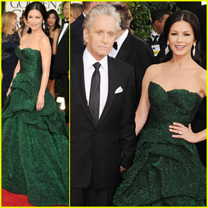 Michael Douglas & Catherine Zeta-Jones - Golden Globes 2011 Red Carpet