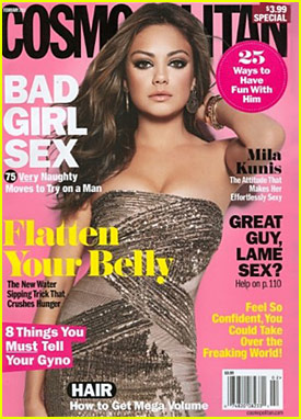 Mila Kunis Covers 'Cosmopolitan' February 2011