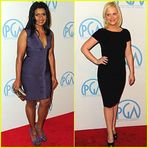 Amy Poehler & Mindy Kaling: Producers Guild Awards!