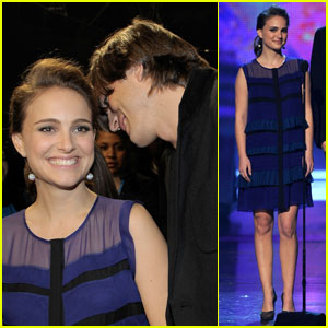 Natalie Portman: PCAs Presenter with Ashton Kutcher