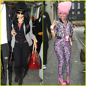 Nicki Minaj: Bright Pink Catsuit!
