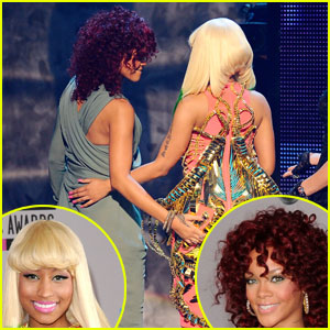 Rihanna Slaps Nicki Minaj's Butt, Becomes Her Celeb Crush
