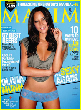 Olivia Munn Covers 'Maxim' February 2011