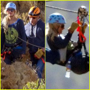 Paris Hilton: Zany Ziplining!