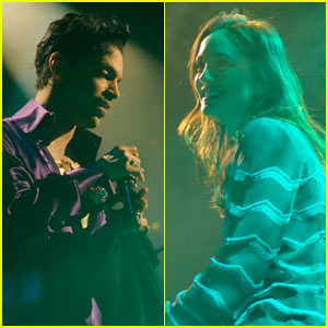 Prince Pulls Leighton Meester Up On Stage During His Concert