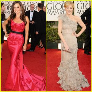 Sofia Vergara & Julie Bowen - Golden Globes 2011 Red Carpet