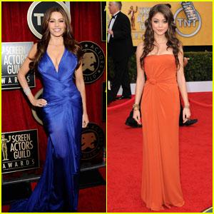 Sofia Vergara & Sarah Hyland - SAG Awards 2011 Red Carpet