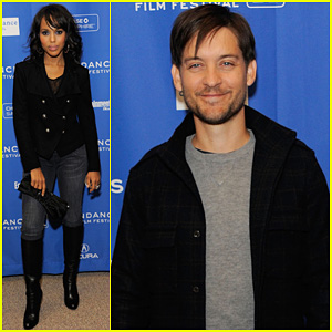 Tobey Maguire & Kerry Washington: 'The Details' Premiere!