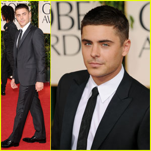 Zac Efron - Golden Globes 2011 Red Carpet