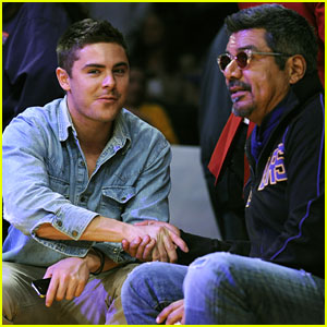 Zac Efron: Lakers Game with George Lopez!