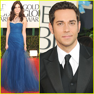 Mandy Moore & Zachary Levi - Golden Globes 2011 Red Carpet