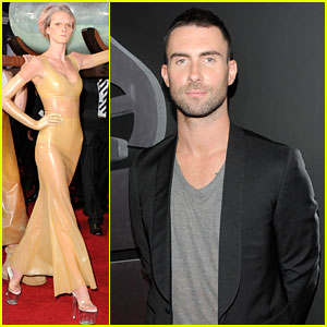 Adam Levine: Grammys 2011 Red Carpet with Anne Vyalitsyna