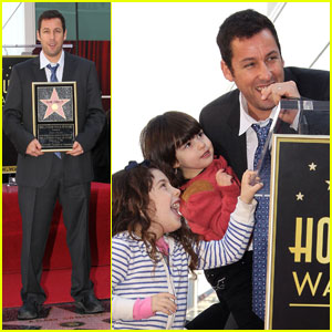 Adam Sandler: Star on Hollywood Walk of Fame!