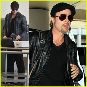 Brad Pitt: LAX Security Stud