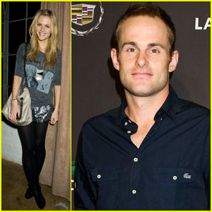 Brooklyn Decker: Lacoste Super Bowl Party with Andy Roddick!