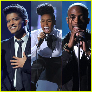 Bruno Mars: Grammys Performance with B.o.B & Janelle Monae!