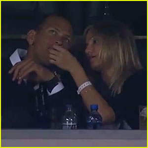 Cameron Diaz Feeds Alex Rodriguez at the Super Bowl!