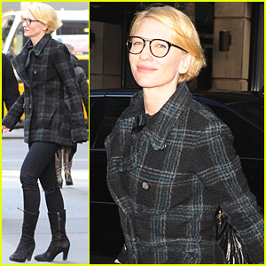 Cate Blanchett: Four Eyed Smile in NYC