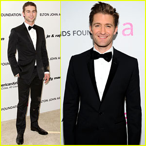 Chace Crawford & Matthew Morrison - Oscars Viewing Party Pals!