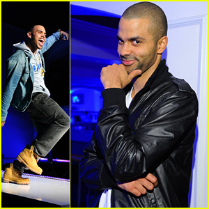 Chris Brown & Tony Parker: NBA All-Star Party!