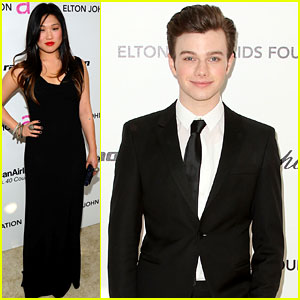 Chris Colfer & Jenna Ushkowitz - Oscar Viewing Party!