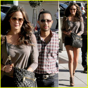 John Legend & Chrissy Teigen: Sunset Plaza Pair