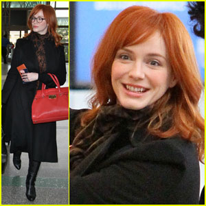 Christina Hendricks: Four-Eyed Flight!