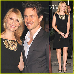 Claire Danes: Pre-Oscar Dinner with Hugh Dancy!