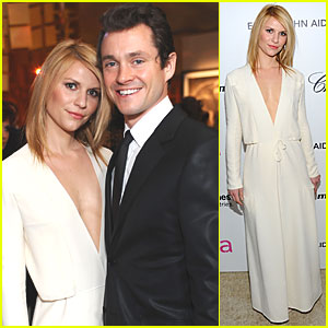 Claire Danes - Oscar Viewing Party with Hugh Dancy!