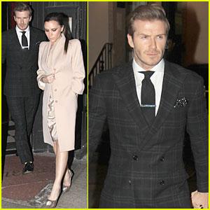 David Beckham & Victoria: Valentine's Day Dinner Date!