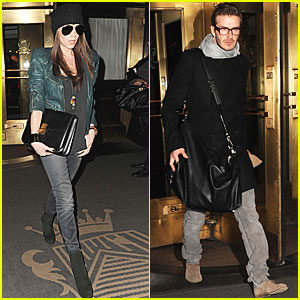 David Beckham & Victoria Head Home from NYC