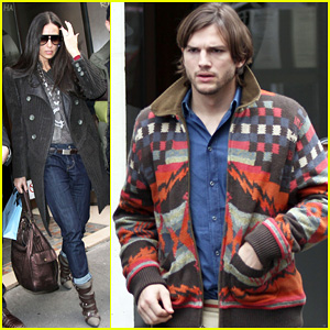 Demi Moore & Ashton Kutcher: Lunch Date in Paris!