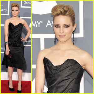 Dianna Agron - Grammys 2011 Red Carpet