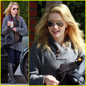 Dianna Agron Juices Up in West Hollywood