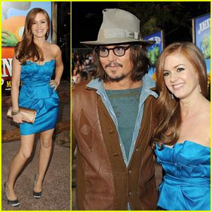 Johnny Depp: 'Rango' Premiere with Isla Fisher!