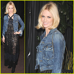 January Jones: Chanel Pre-Oscar Dinner!