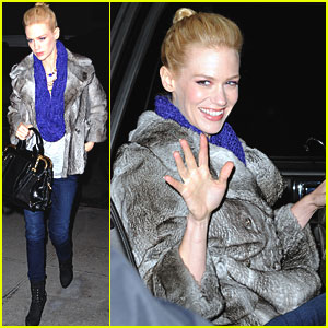 January Jones: 'Daily Show' Visit!