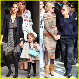 Jessica Alba & Ellen DeGeneres: Pre-Oscar Party in Beverly Hills!