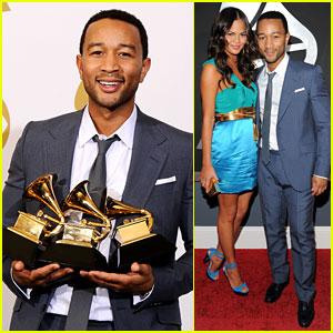 John Legend: Grammys 2011 Red Carpet with Chrissy Teigen
