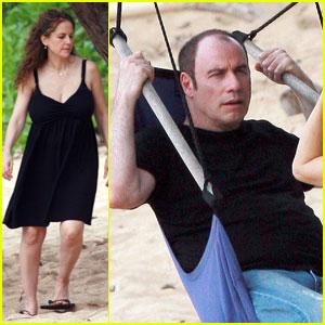 John Travolta: Birthday in Hawaii with Kelly Preston!