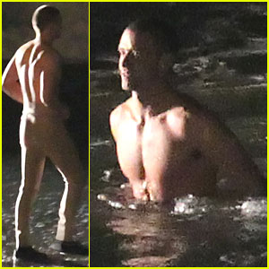 Justin Timberlake: Shirtless Swimming for 'Now'!