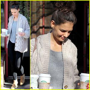 Katie Holmes: Starbucks Stopover!
