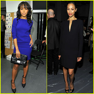 Kerry Washington & Zoe Saldana: Calvin Klein Show!