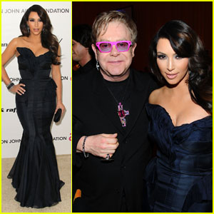 Kim Kardashian - Elton John Oscar Party!