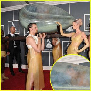 Lady Gaga: Grammys Egg Arrival!