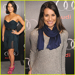 Lea Michele: Audi Dinner Before Super Bowl!