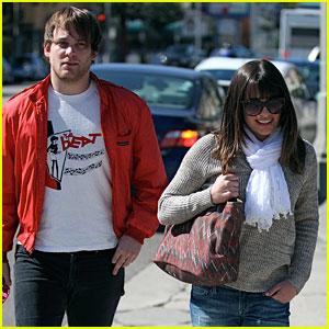 Lea Michele & Theo Stockman: Kings Road Cafe Couple!