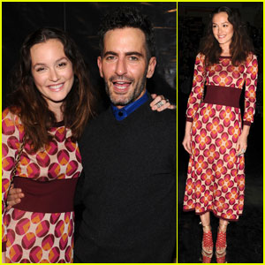 Leighton Meester: Front Row at Marc Jacobs!