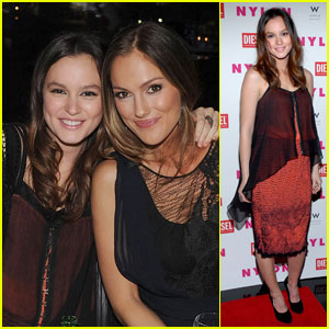 Leighton Meester: 'Nylon' Cover Dinner Party!