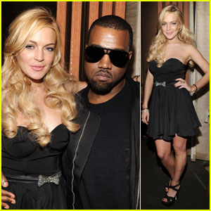 Lindsay Lohan: Giuseppe Zanotti Opening with Kanye West!